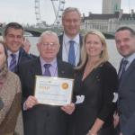 Alan Butler Gold Award Certificate Received